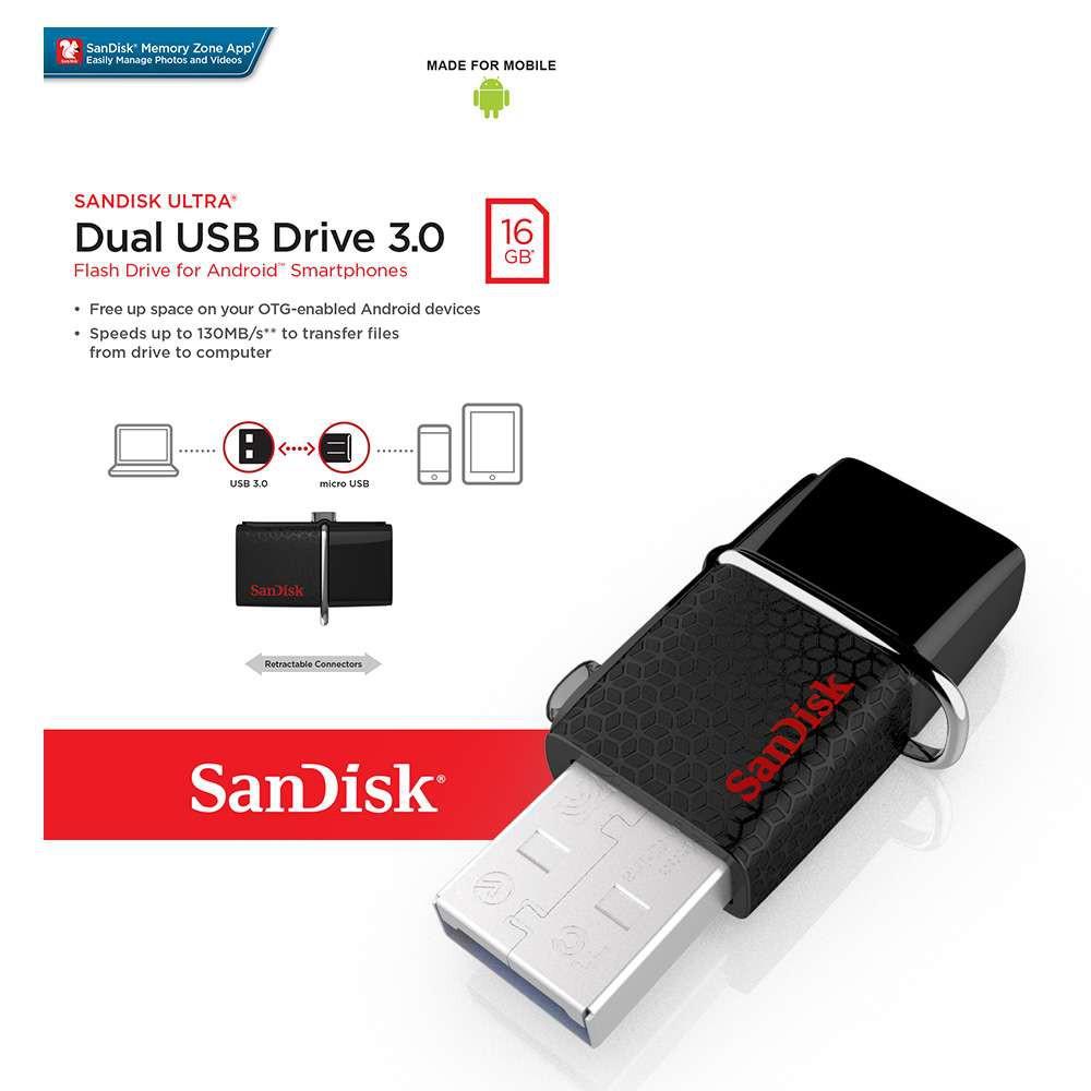 Sandisk Ultra Dual 30 Otg Usb Pendrive Flash Drive Micro 8gb Flashdisk Atau Flashdrive Samsung Type C Original 16gb 32gb Shopee Malaysia