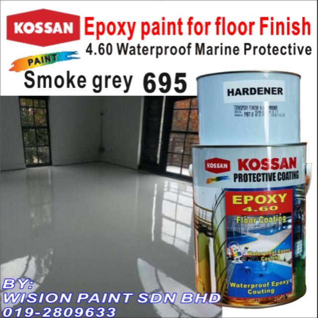 695 (1 Liter) KOSSAN 4 60 EPOXY PAINT FLOOR COATING FINISH