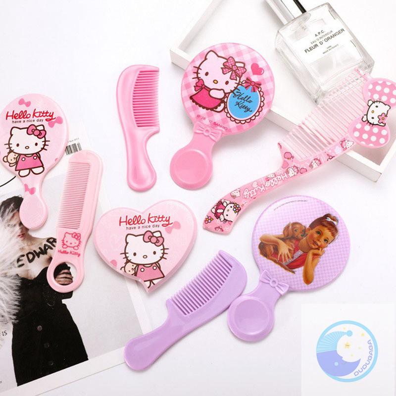 b72b0b92c Kids Girl Cute Hair Comb Plastic Comb with Makeup Mirror Set | Shopee  Malaysia