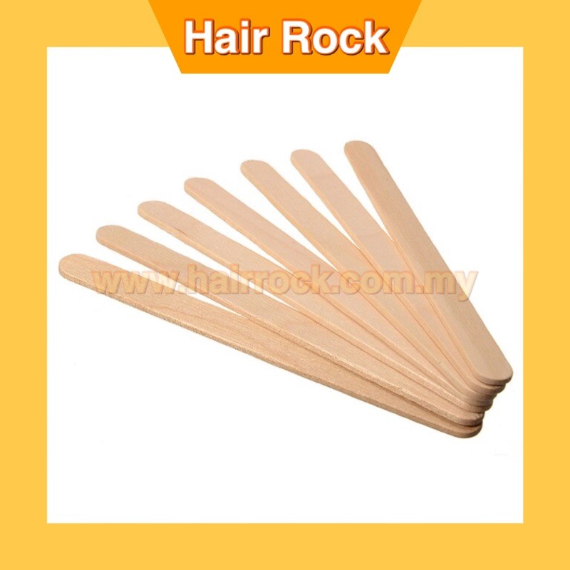 Beauty Salon Use Medical Hot Waxing Craft Wax Stick Wooden 6 Inch Tongue Depressor