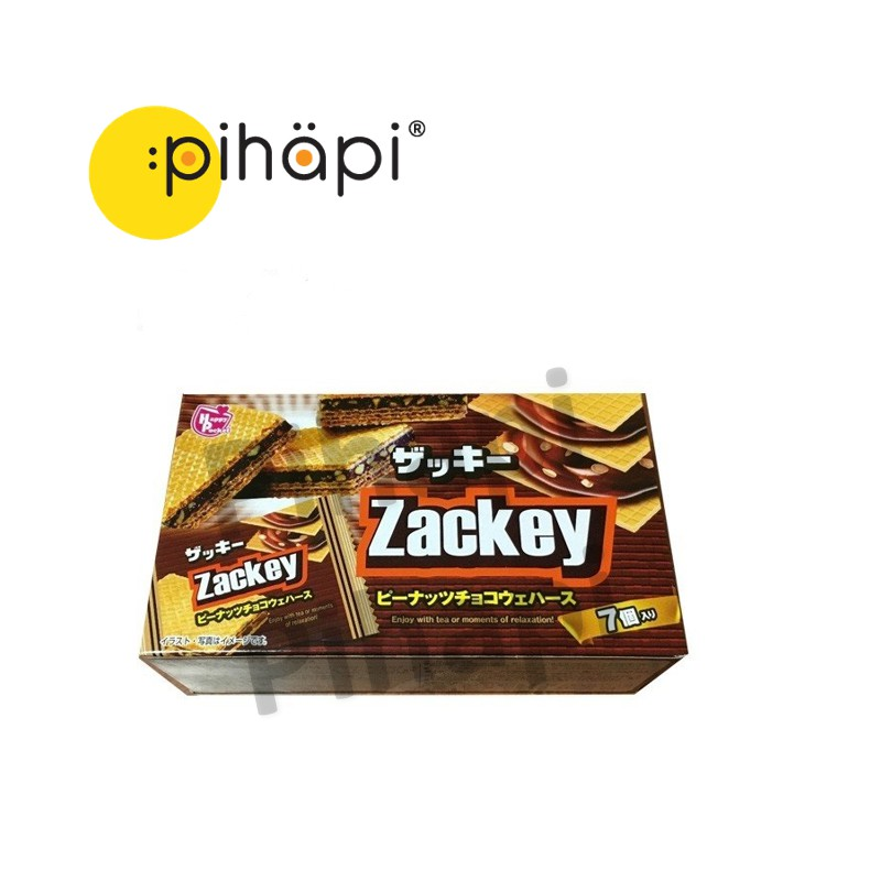 [IMPORTED FROM JAPAN] Japanese Happy Pocket Zackey Peanut Chocolate Waffle Biscuit / [日本进口,现货] 日本独立包装花生巧克力华夫饼干