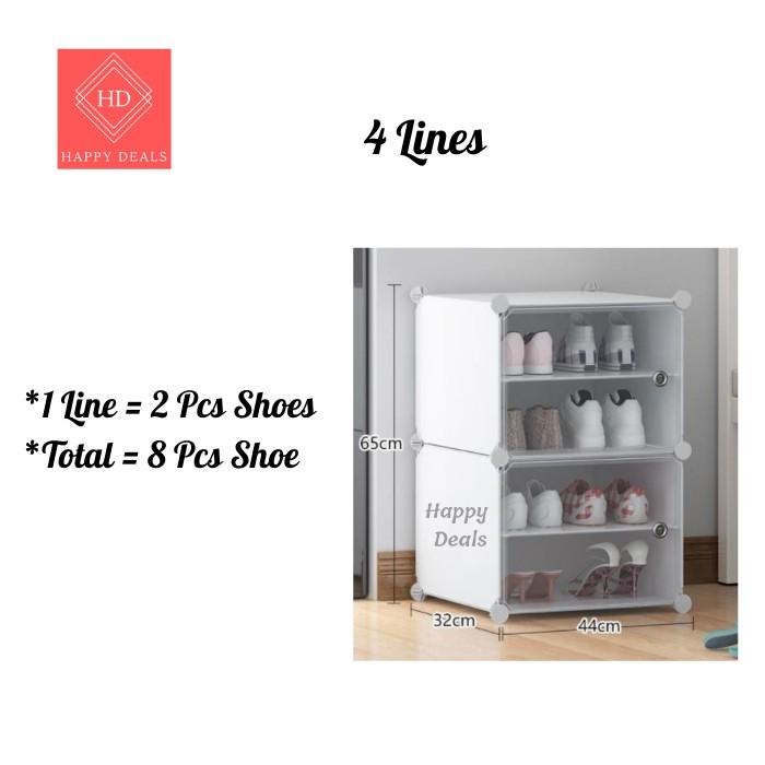 Happy Deals 18 Tier Shoe Rack/ 8 Tier Shoes Rack Storage Organizer Rak Kasut bertingkat 18 tingkat rak kasut 8 tingkat