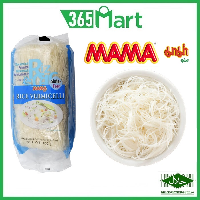 MAMA Rice Vermicelli 400g (Bihun Beras Kering) 媽媽米粉 Gluten Free by 365mart 365 Mart