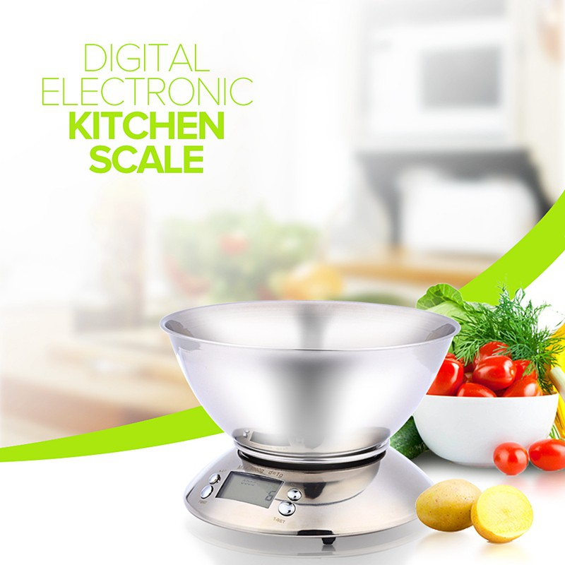 Kitchen Scale 5kg 1g Electronic Scale Kitchen Food Balance Cuisine