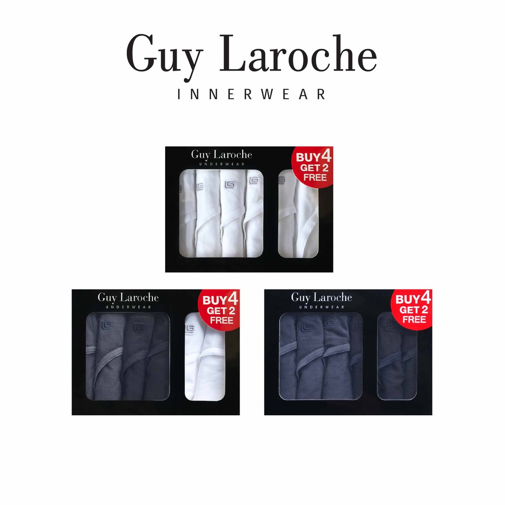 Guy Laroche กางเกงในชาย รุ่น PACK 6 ชิ้น  Cotton spandex  (49
