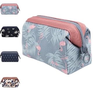 8627a4f323d2 Flamingo Cosmetic Bag Women Make Up Bag Travel Toiletry Organizer ...