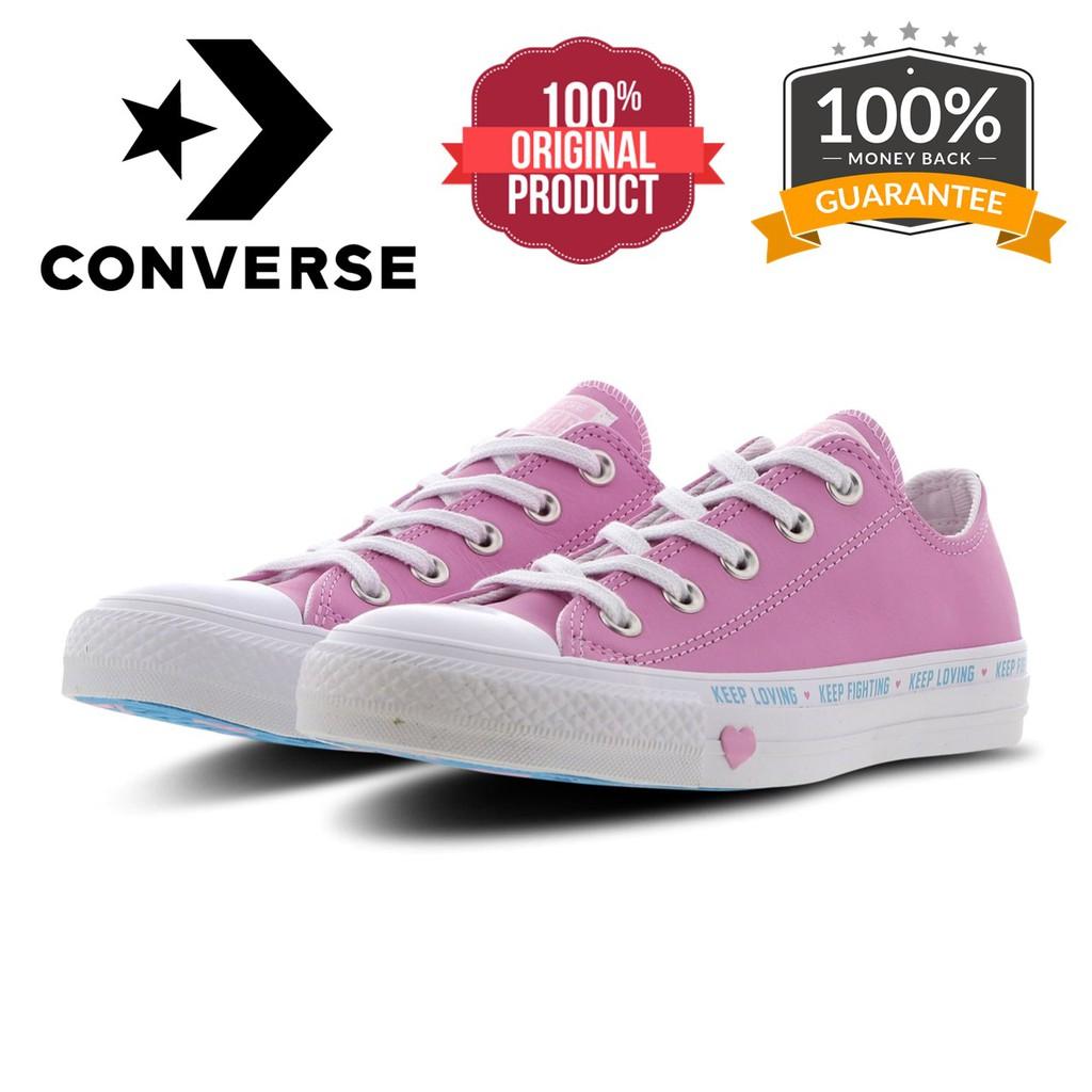 Amigo por correspondencia carro escala  PROMO 11.11 [ 100% ORIGINAL CONVERSE ] Chuck Taylor All Star Love The  Progress Pink (Leather)   Shopee Malaysia