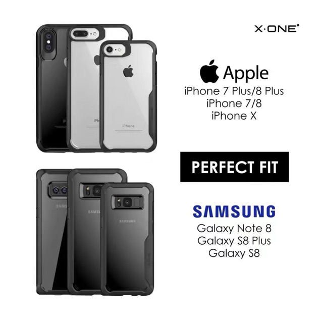 best service eee96 b50bc X-ONE DropGuard2.0 Case Iphone8Plus/ IphoneX/ Samsung Note8