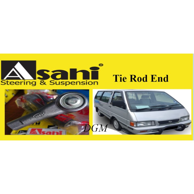 ASAHI Nissan Vanette C22 Tie Rod End Outer & Inner 2Pair 4Pcs