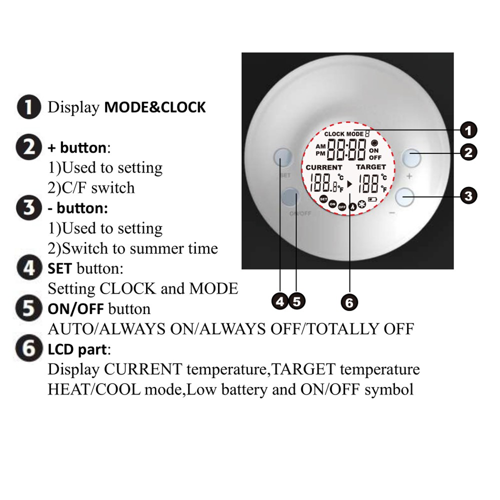Thermostat Switch Timer Socket Temperature Controller 12//24H Outlet 70°C TE1000