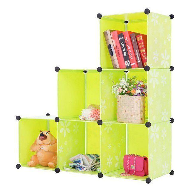 Wardrobe Cabinet 6 Cubes Flower L-Shape Decorative-(LRA0022)