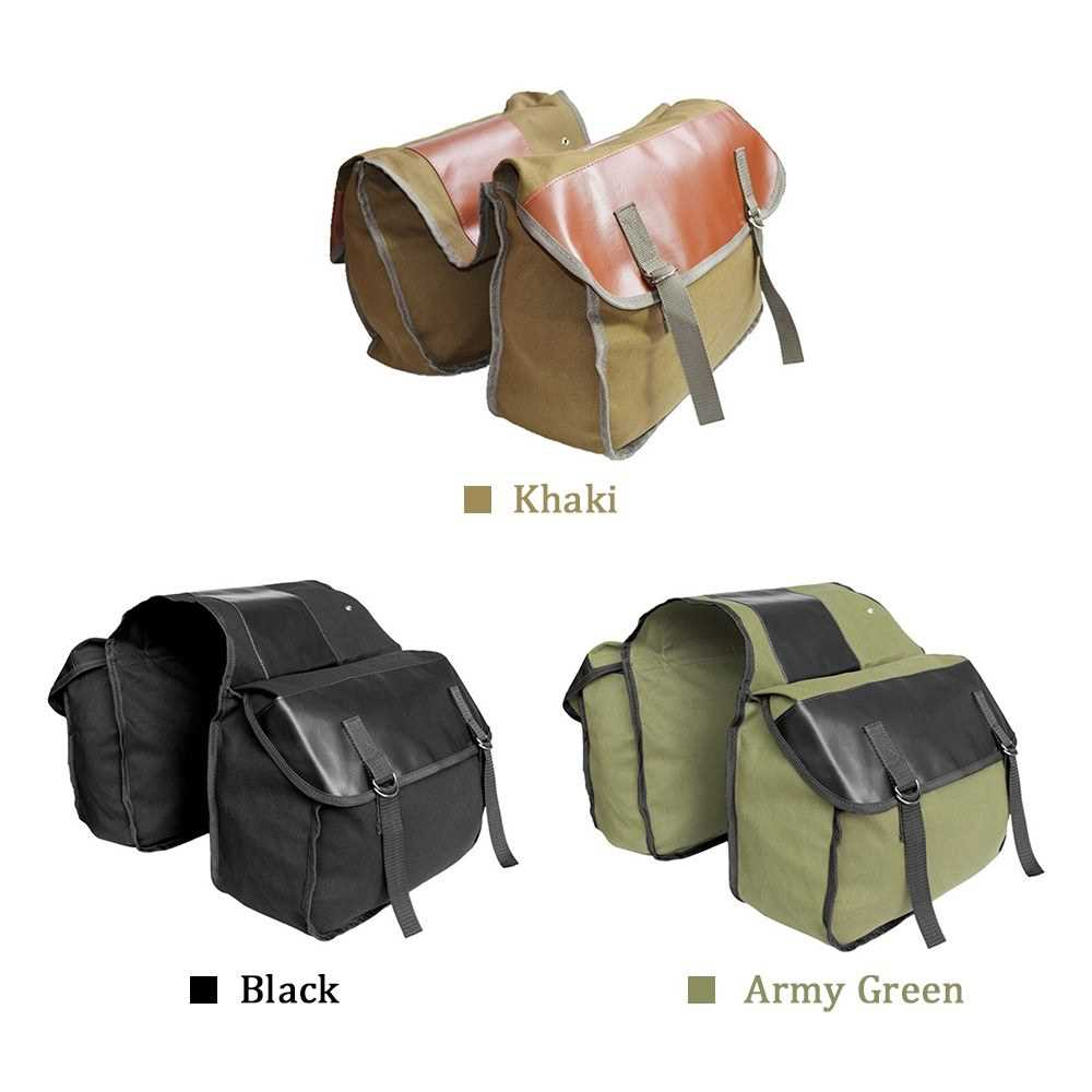 40L Bike Trunk Bag Bicycle Luggage Carrier Bag Cycling Bicycle Rack Rear Seat Bag Pannier (Army Green)