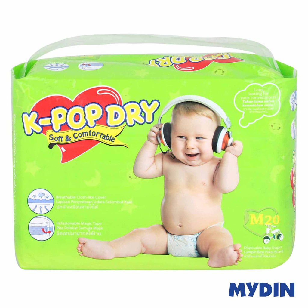 K-Pop Dry Disposable Baby Diapers M20