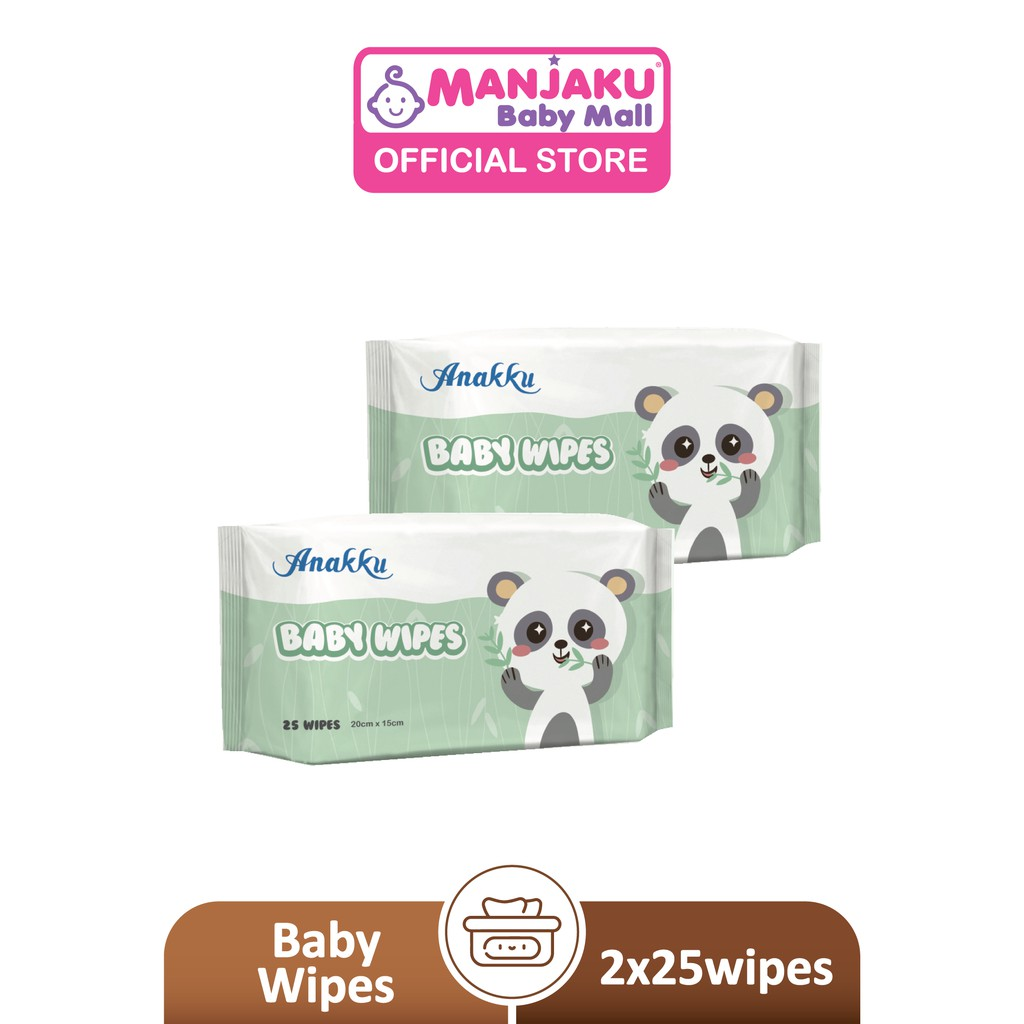 Anakku Natural Baby Wipes (2 x 25's) - Bouquet