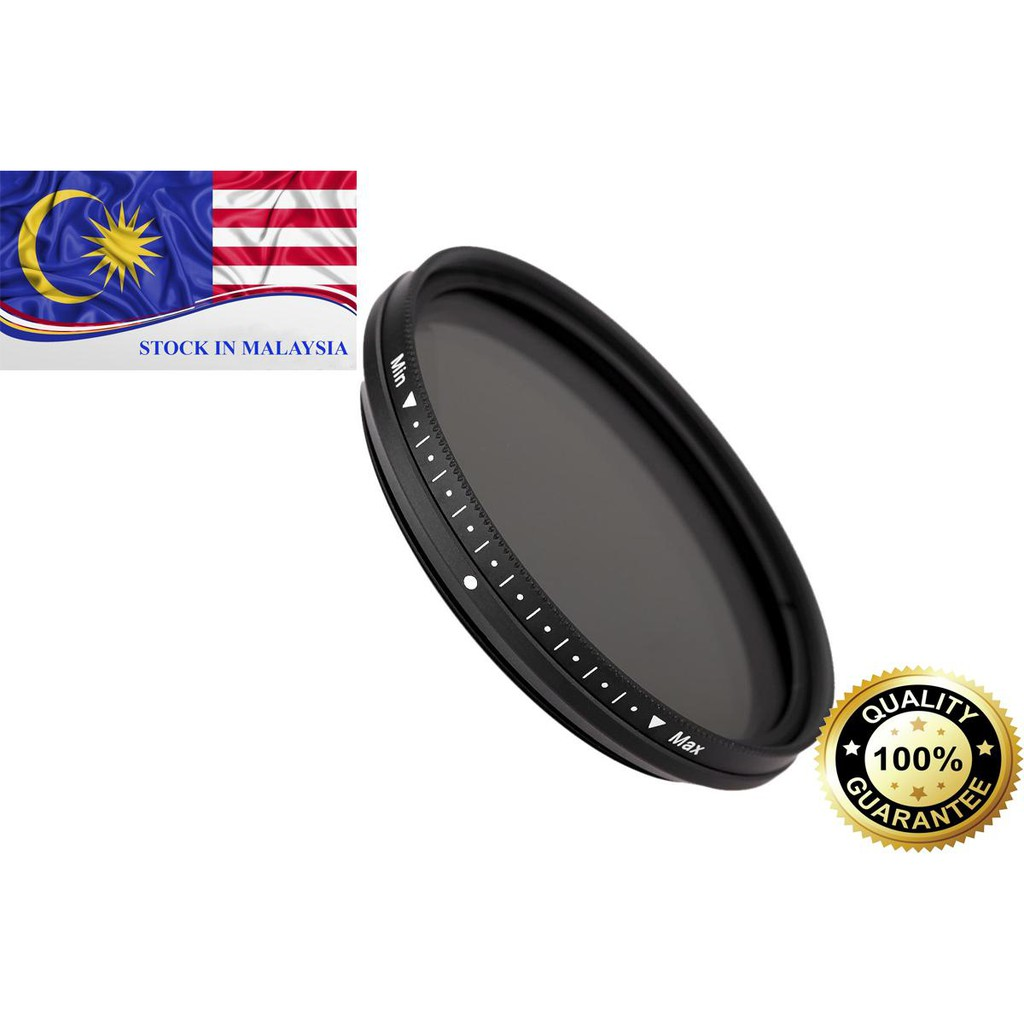 FOTGA Slim Fader Variable ND Filter Adjustable ND2 to ND400 55mm (Ready Stock In Malaysia)