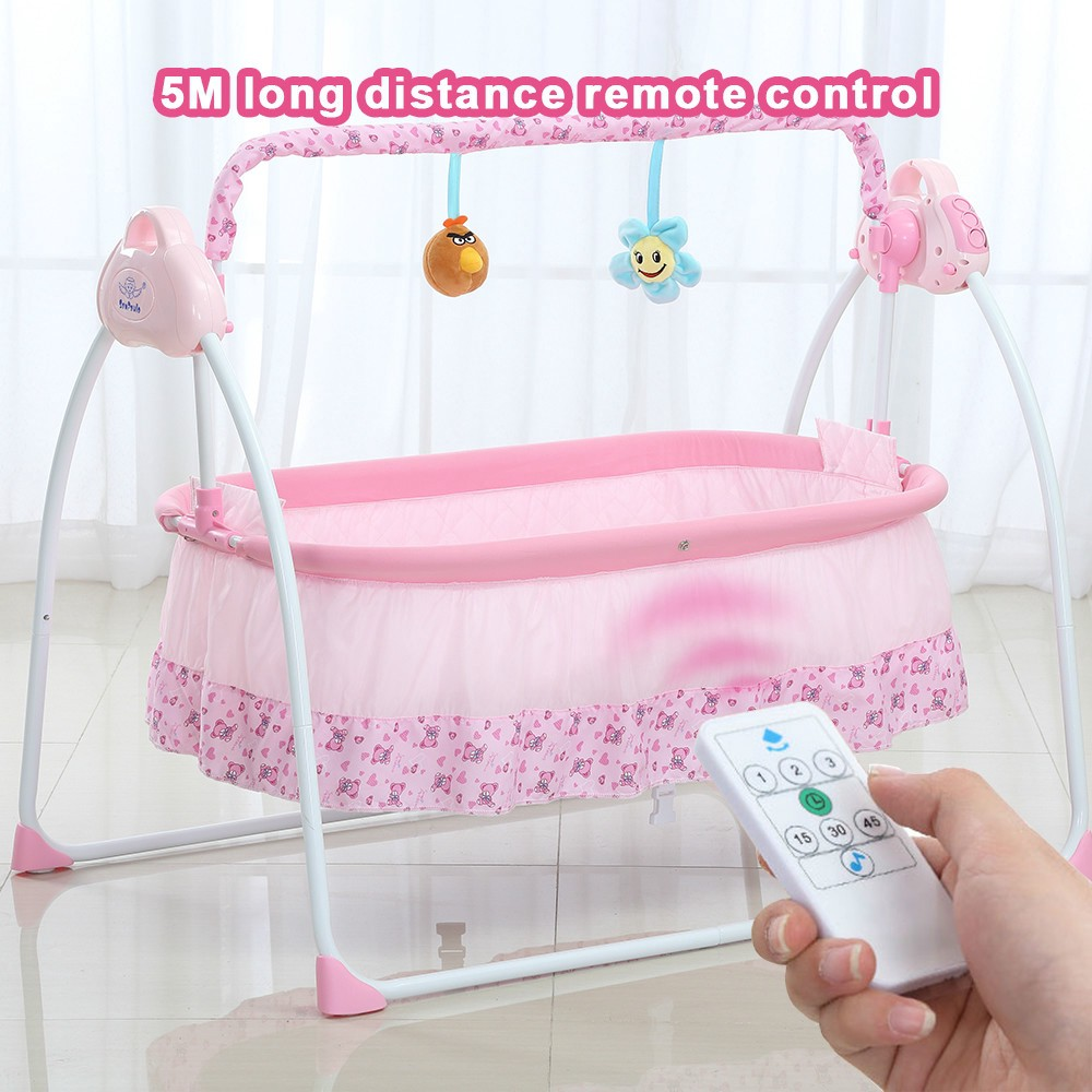 5d310136a63 Automatic baby cradle Electric Baby Intelligent swing bed rocking chair  bassinet