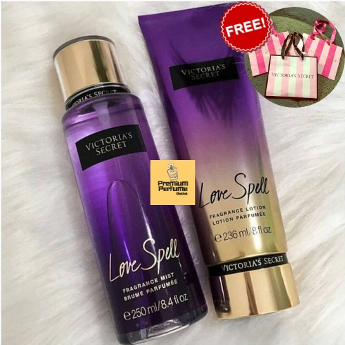 Secret Mistamp; Perfume Victoria's Love Lotion For Set Body Spell Her BedoQxrCW