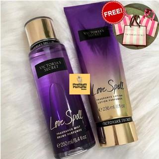 b199d7804951f Victoria's Secret Love Spell Perfume Body Mist & Body Lotion Set For ...
