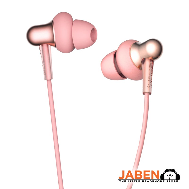 1More Stylish Dual Dynamic Affordable Remote Volume Control Microphone In-ear Earphones [Jaben] E1025