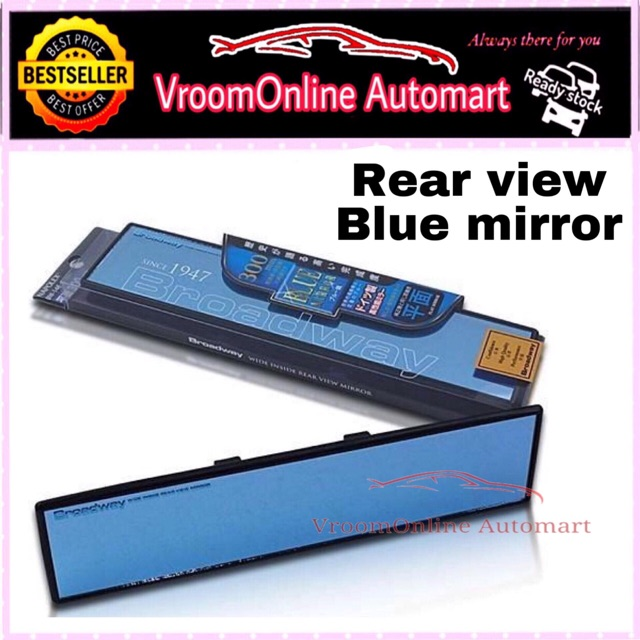 Broadway BW147 300mm Blue Mirror with Black Frame