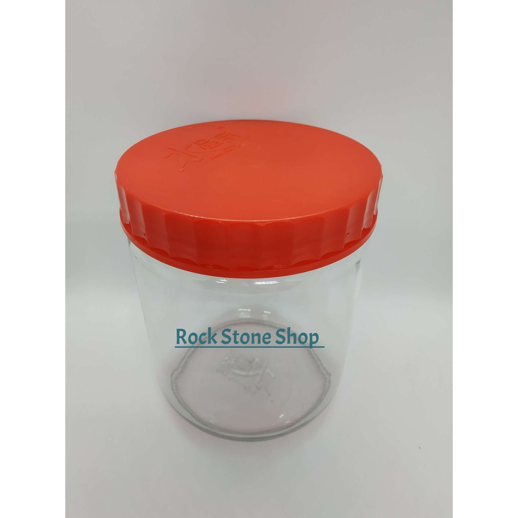 1.0L / 1.5L Round Glass Jar Bottle Storage Container For CNY Raya Cookies Nuts with Plastic Lid | Balang Kaca | 水晶灵玻璃储物罐