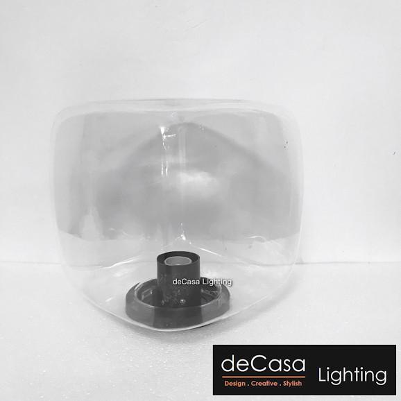 Decasa Lighting Clear / Opal S/L Size Square Globe Modern Outdoor Pillar Light  Weather Proof  Outdoor Gate Light GP025