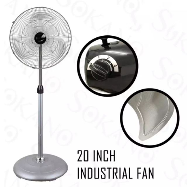 "Tikka Industrial Stand Fan 20"" High wing powerful"