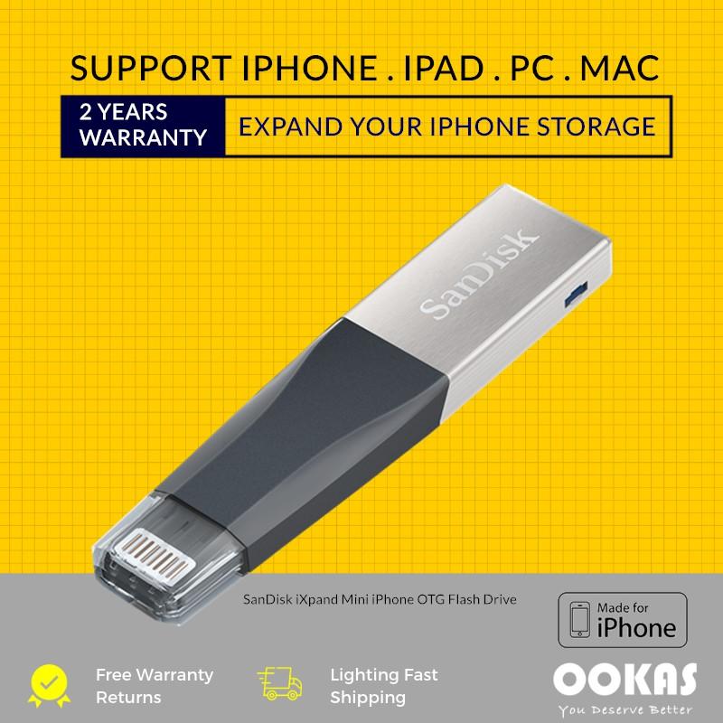 SanDisk 128GB64GB USB3.0 iXpand Mini Flash Drive Stick for Apple/'s mobile iPhone