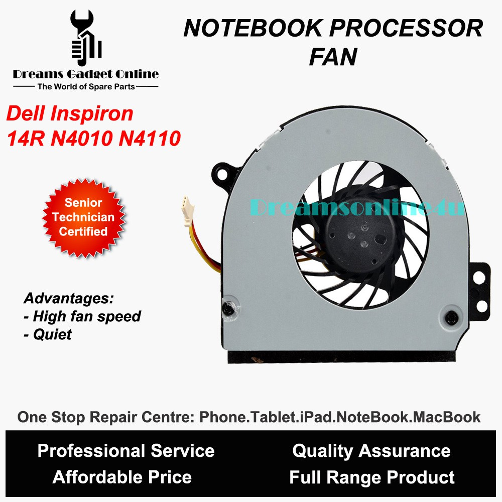 Replacement NoteBook CPU Fan for Dell Inspiron 14R N4010 N4110 1564 1464