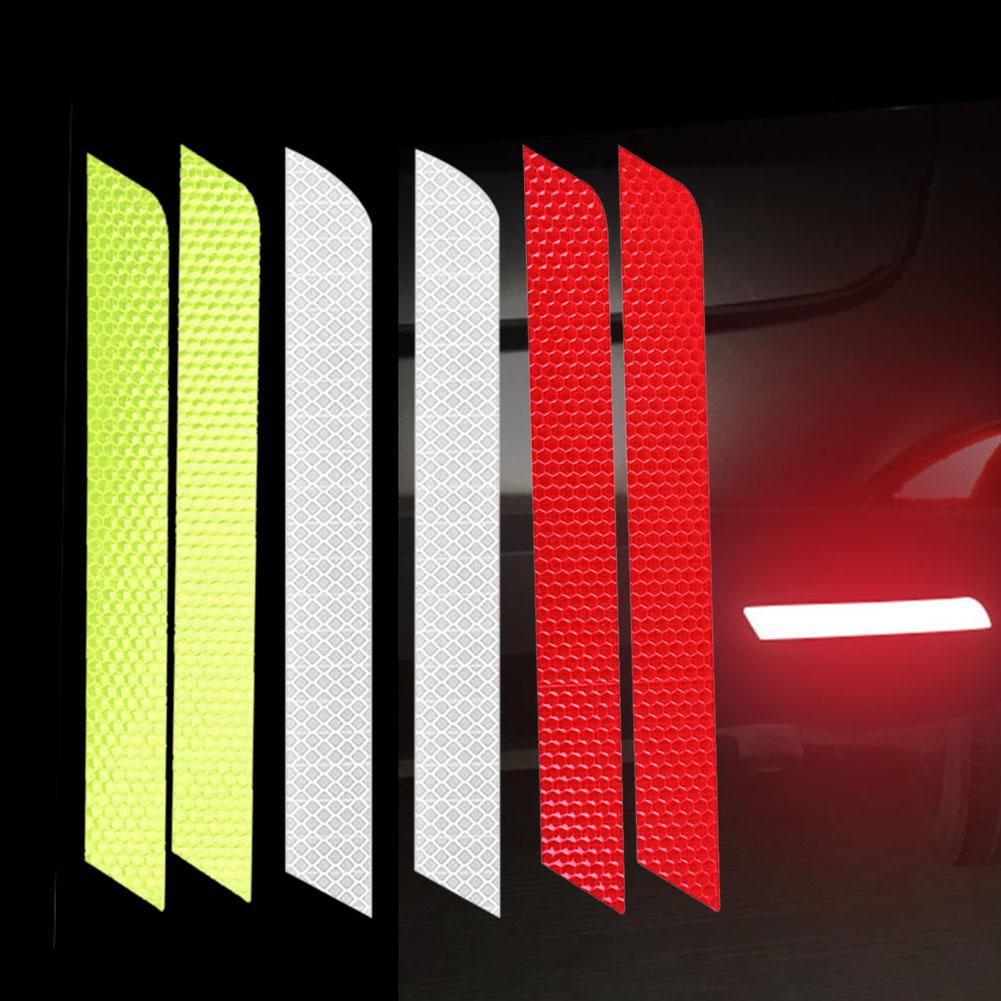 Luminous  Car Reflective Strip Rear Bumper Tail Safety Warning Stickers