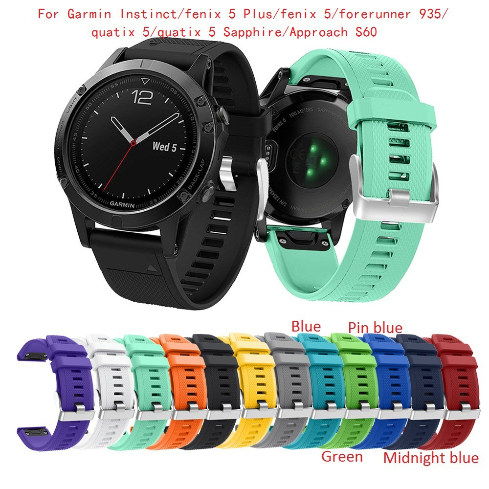 Garmin Fenix 5/5 Sapphire/Forerunner 935/945 Silicone Watch Band  Replacement Strap Accessory 22mm (Not Fit Fenix 5X/5S)