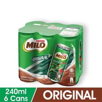MILO ORIGINAL 6 cans X 240ML