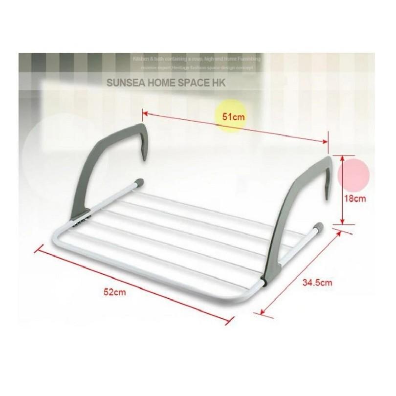 [ READY STOCK ]  Folding Bathroom Cloth Holder Rack Shelf Jualan Murah Kitchen Baju Storage Simpanan Perabut Furniture