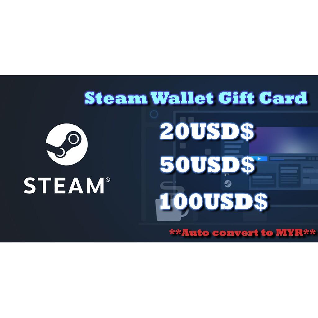 Steam wallet card