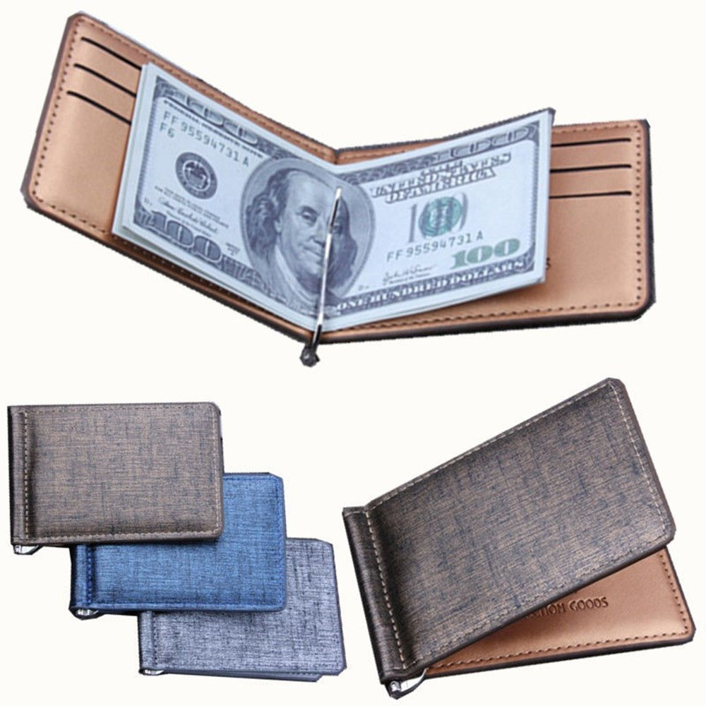 ID Credit Luxury Business Men/'s Slim Card Holder Real Leather Wallet Money Clip