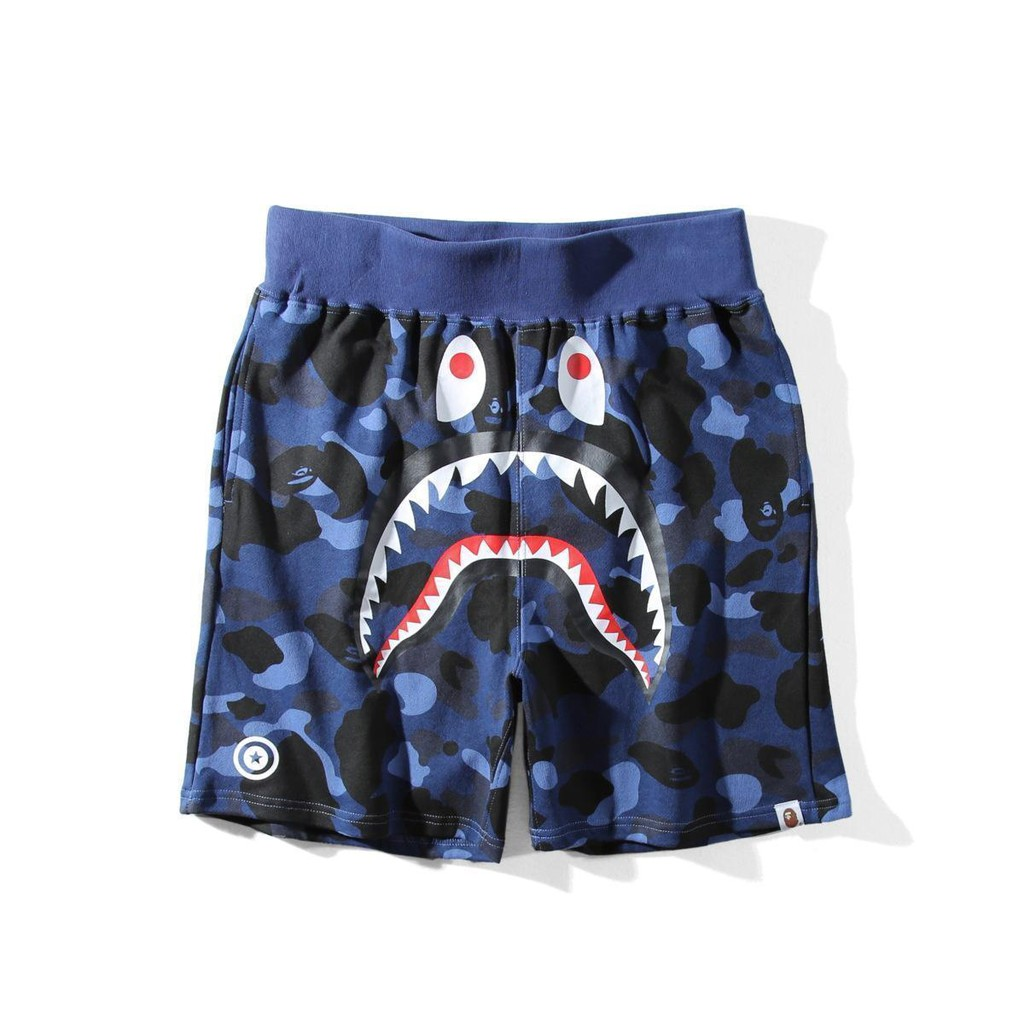 f35fd601d6 Men A Bathing Ape BAPE Shark Jaw Pants Camouflage Casual Shark Head Beach  Shorts | Shopee Malaysia