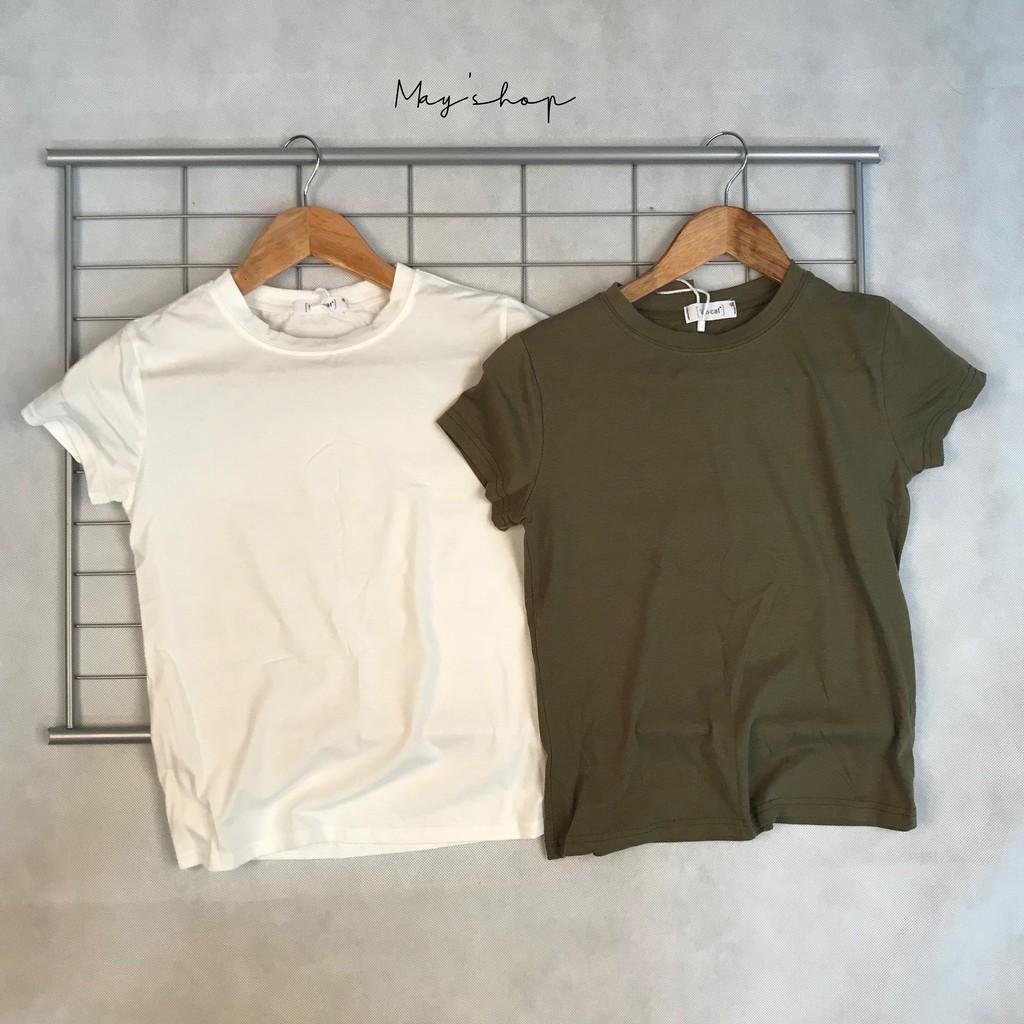 [ Clearance Stock ] Women\'s Solid Color Short Sleeve T-Shirt Joker Shirt Slim T-Shirt