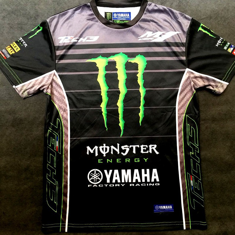 69c0a1f9c159 MOTOGP YAMAHA TECH 3 MOTORCYCLE QUICK DRY BREATHABLE T-SHIRT ...