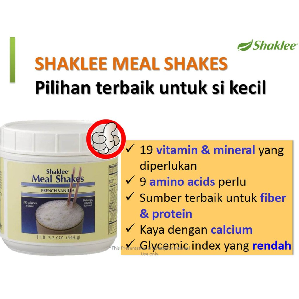 Shaklee Meal Shake X1 Meal Shakes French Vanilla