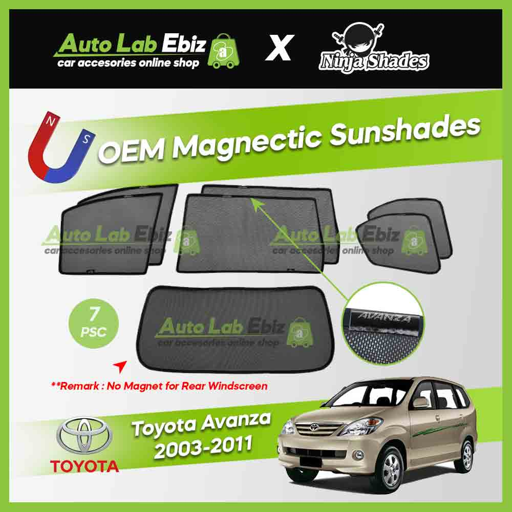 Toyota Avanza 2003-2011 Ninja Shades OEM Magnetic Sunshade (7pcs)
