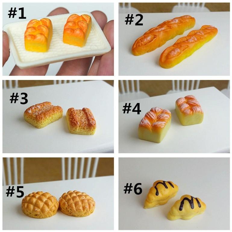 6PCS Mini Bread for Dollhouse Miniature Fashion For 1//12 Dollhouse Tackle Set