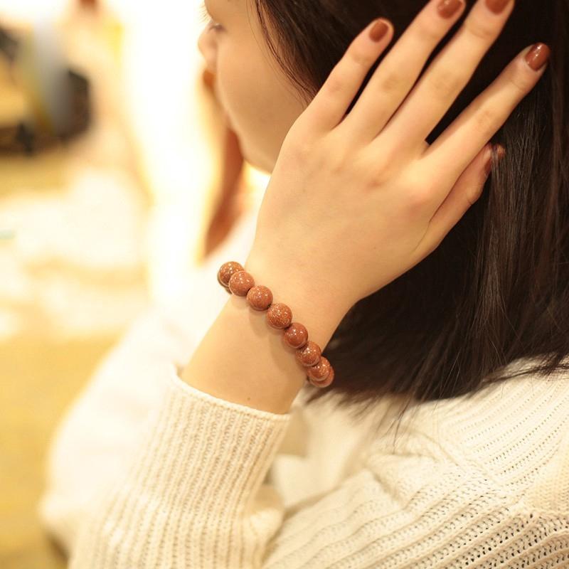 【Ready Stock】Golden Sand Stone Bracelet 金沙石手链 聚财许愿石情侣