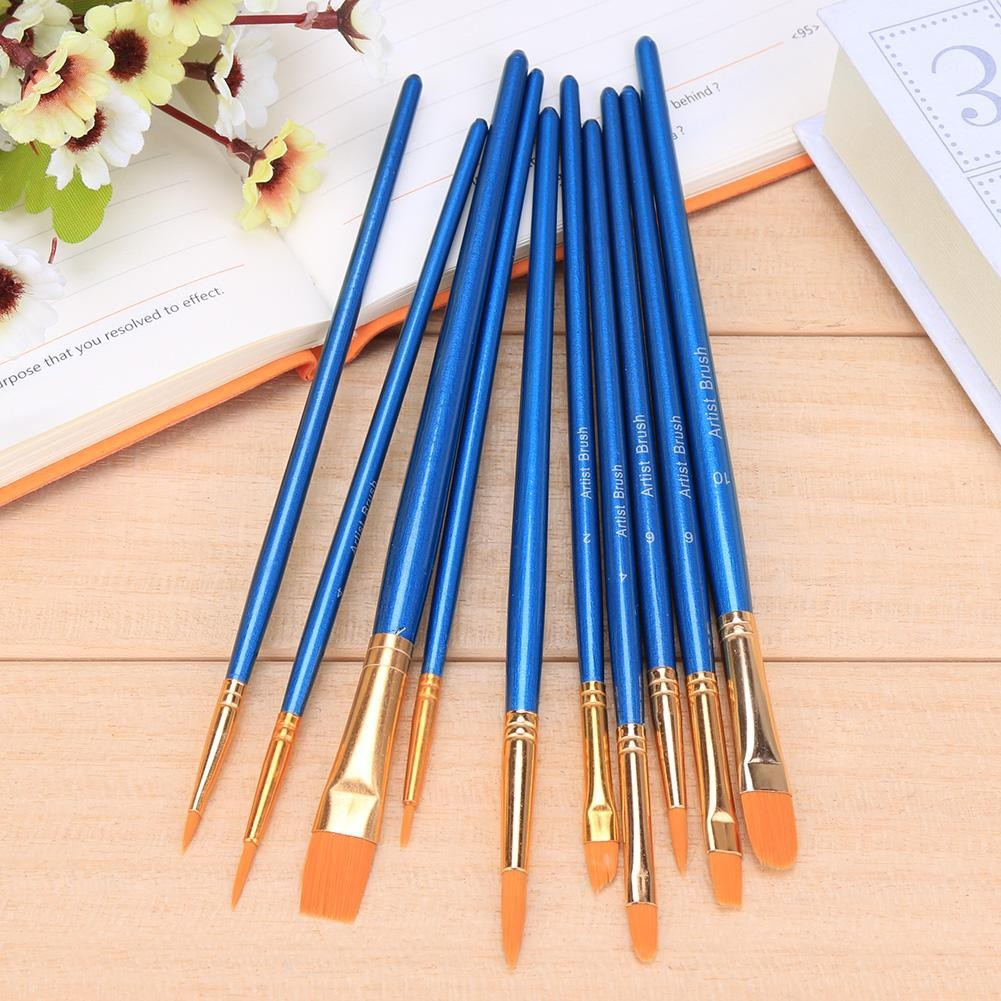 Office & School Supplies Faithful 6pcs Red Wood Handle Paint Brush Nylon Hair Large Area Oil Soft Brush Available Acrylic Paint Brush For Art Supplies Stationery