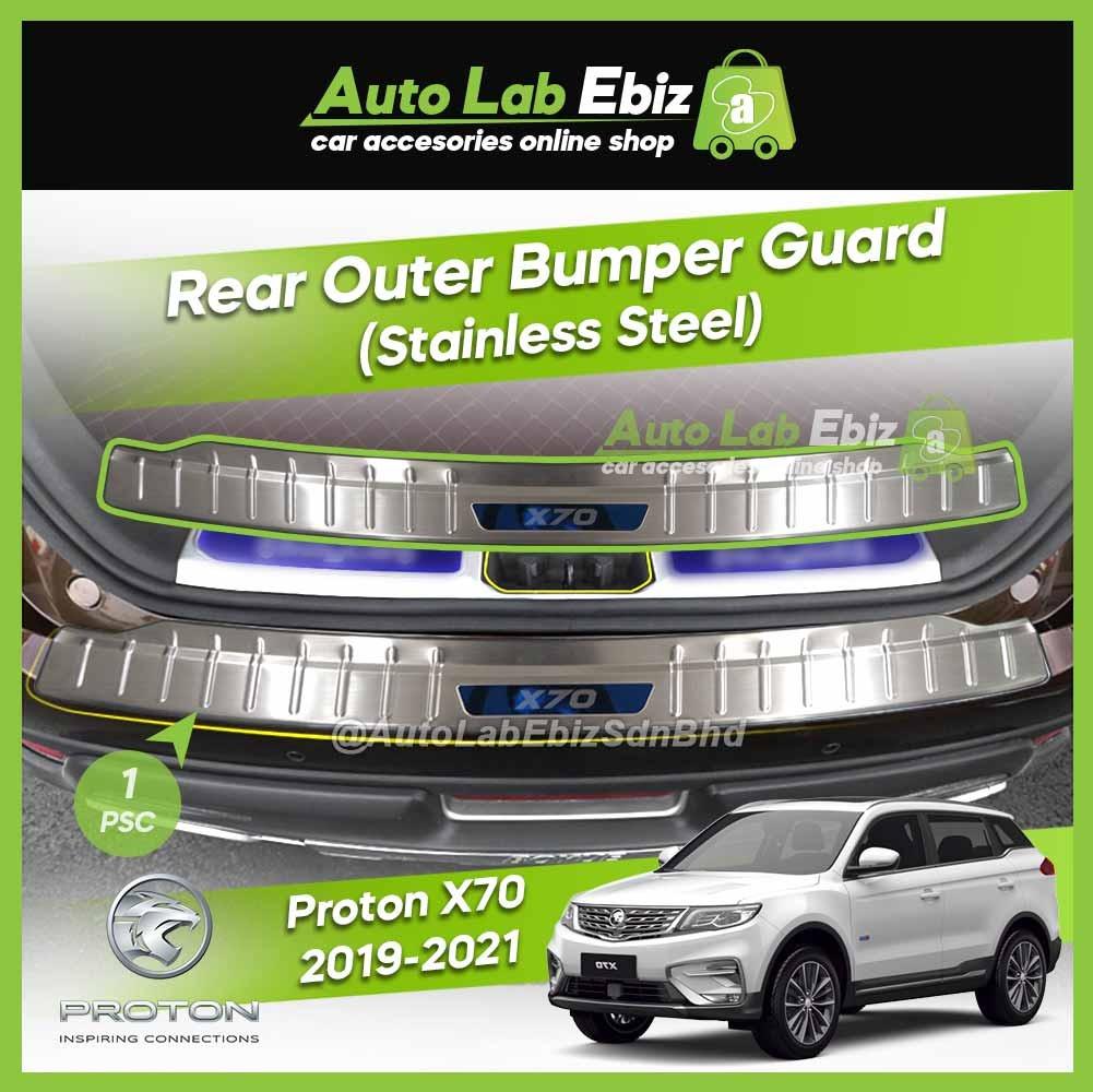 Proton X70 2019-2021 Rear Outer Bumper Guard Protector Chrome