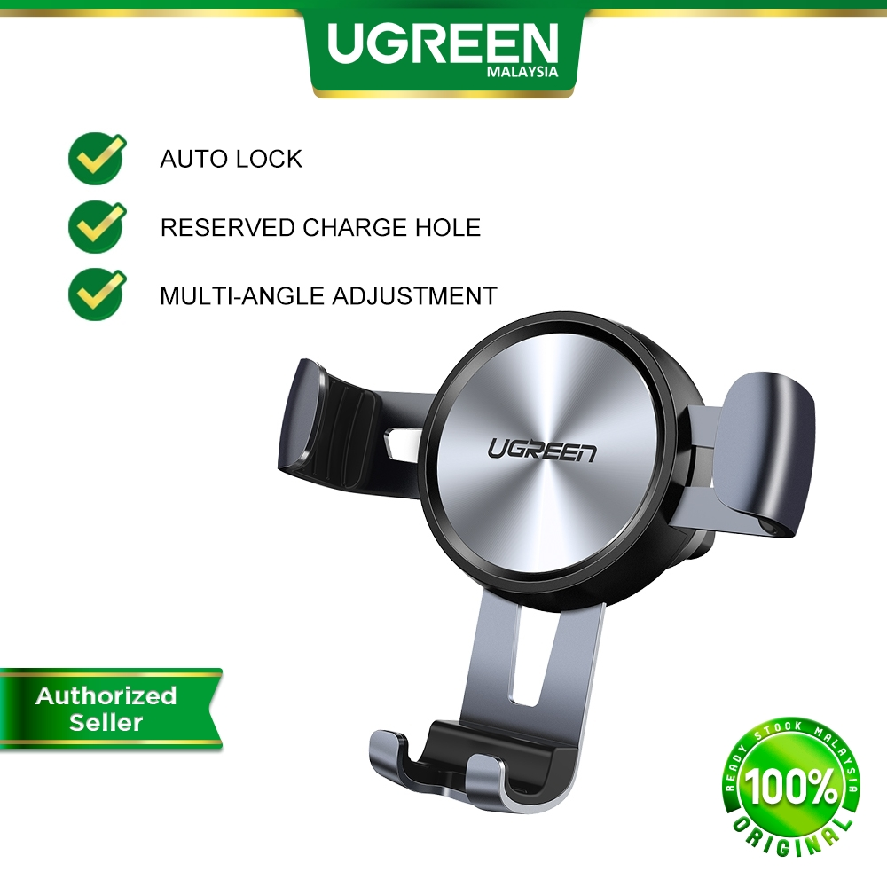 UGREEN Car Phone Mount Air Vent Cell Phone Holder Gravity for iPhone Pro Samsung Note Huawei Oppo Vivo Google Pixel