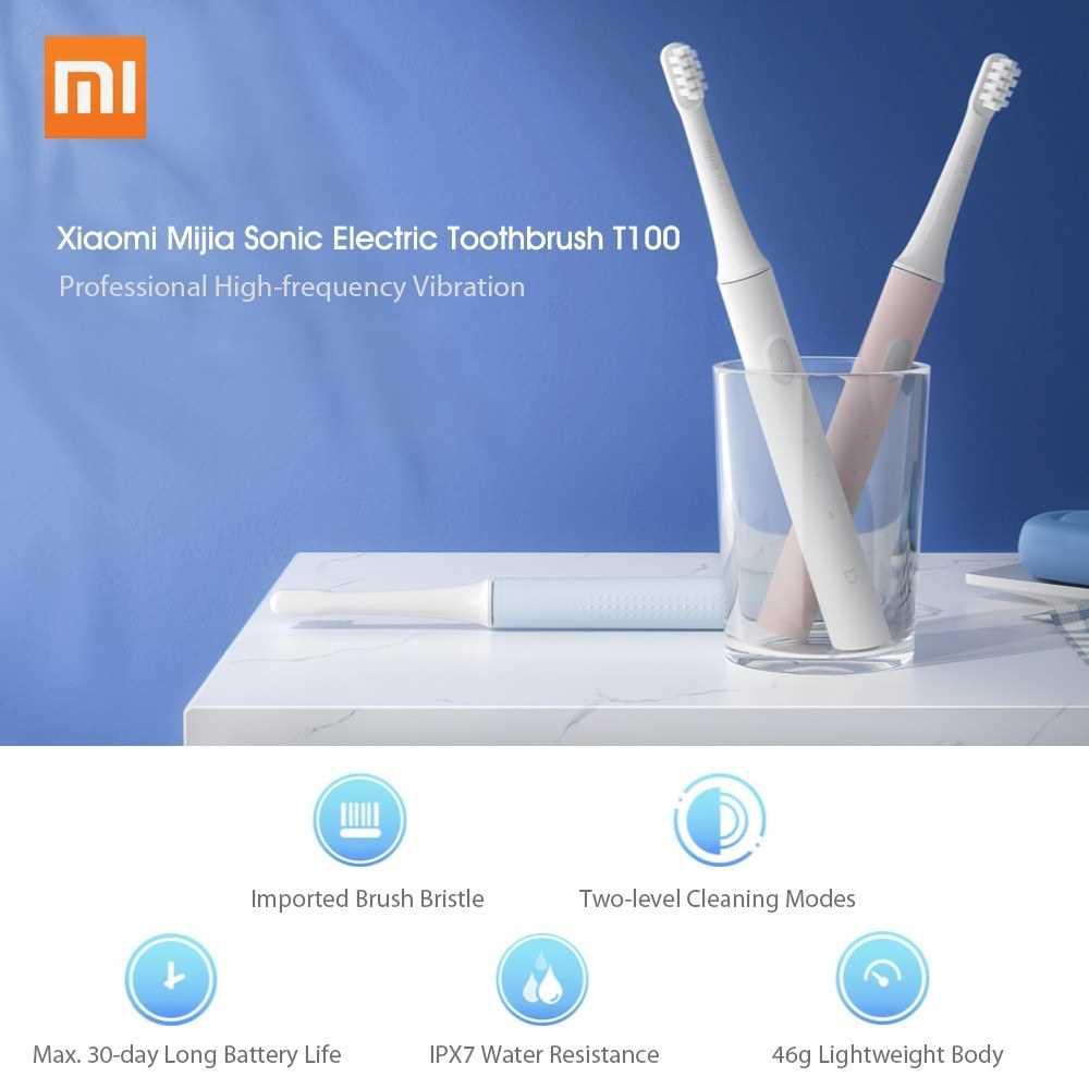 Xiaomi Mijia T100 Sonic Electric Toothbrush Adult Ultrasonic Automatic Toothbrush USB Rechargeable Waterproof Gum Healt