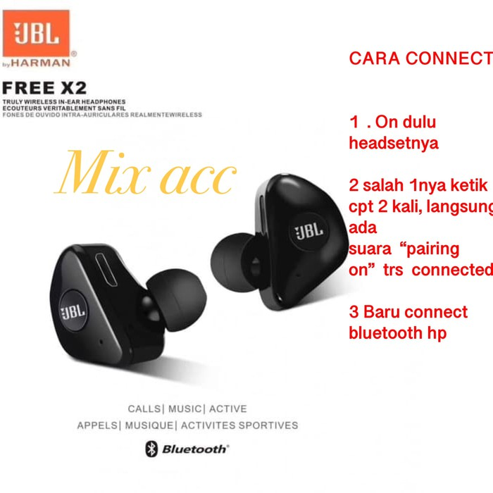 Bluetooth Headset Jbl X2 Wireless Bluetooth Earphones Fill In 2 Left And Right Shopee Malaysia