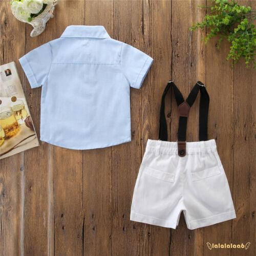summer  blue casual shirt strap shorts baby children/'s clothing boys clothes