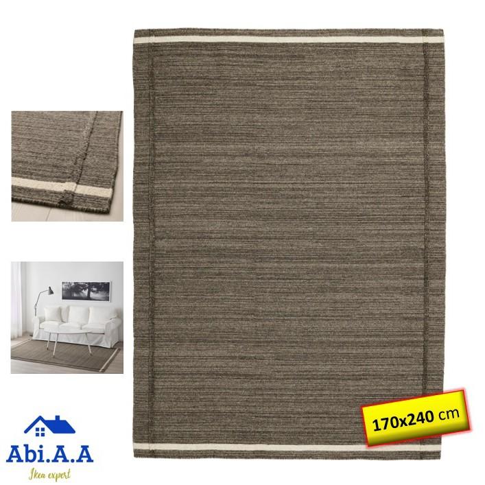 HÖJET / HOJET RUG FLATWOVEN BROWN HANDMADE (Ikea Karpet Buatan Tangan)  170x240CM