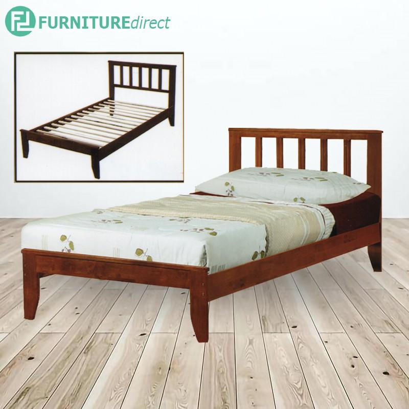 WOODEN SINGLE BED FRAME SB-5252-WG / katil single / kayu bed frame / kayu katil / katil ikea / katil murah / bedroom